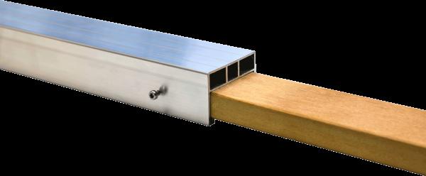 Hartholz Verbindungselement für die 24 x 58 mm Unterkonstruktion aus Alu