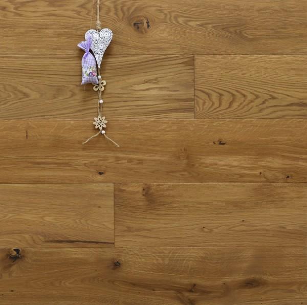 Parkett Eiche Correns aus der Serie Provence, gebürstet, mit Rubio Monocoat R331a + R333 Champagne geölt, Välinge 5G Klick Verbindung, Sonderanfertigung nach Kundenwunsch, 14 x 190 (220) x 1900 (2200) mm