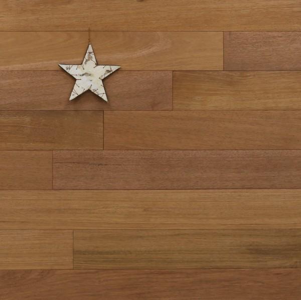 Holzdielen Merbau, Select, 15 x 120 mm, Systemlängen von 600 bis 2100 mm, massiv, Kanten gefast, Nut / Feder Verbindung