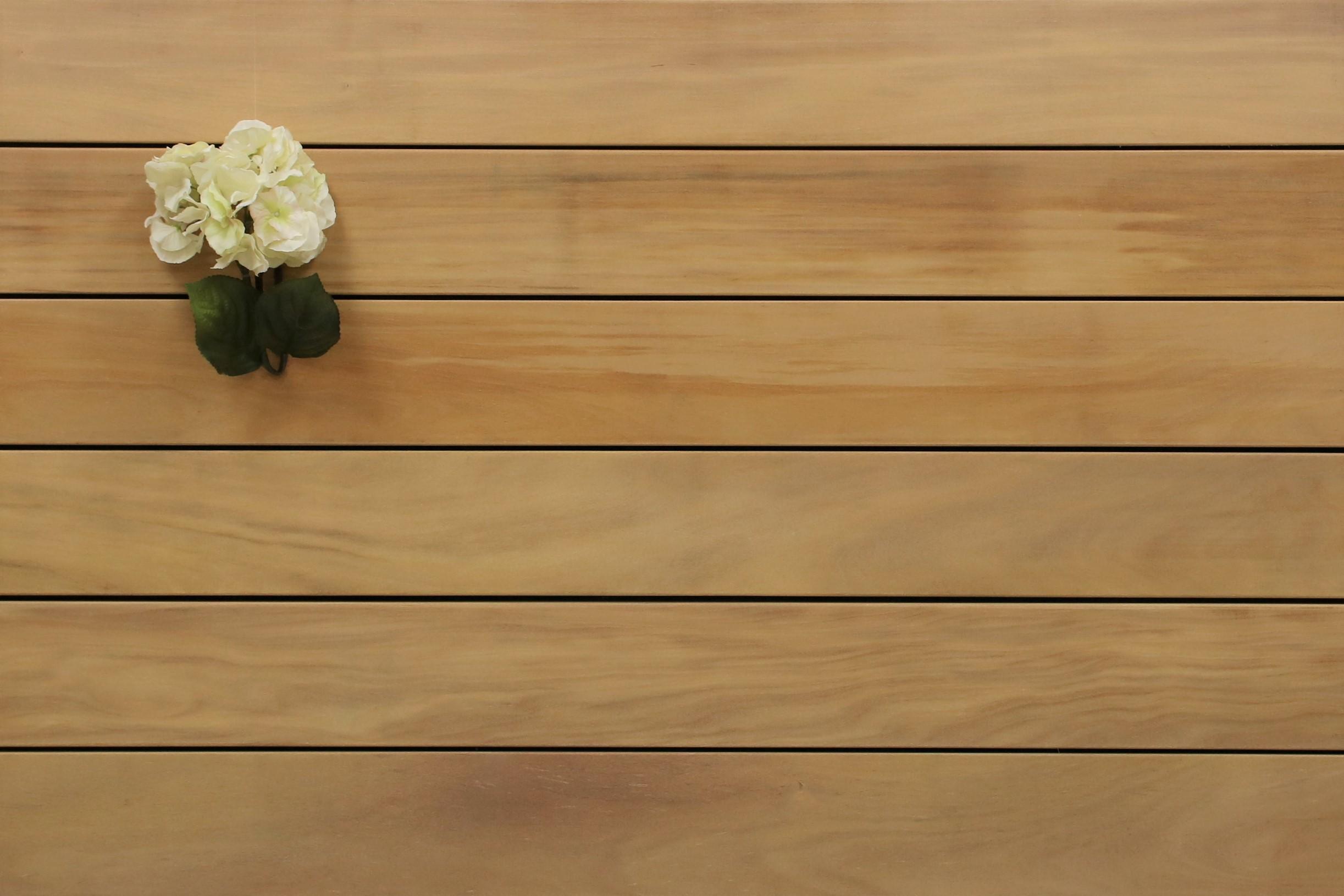 Garapa Holz Dielen für die Terrasse, 8,90 €/lfm, Premium (KD) glatt, 21 x 145 bis 6100 mm, Terrassendielen Bretter