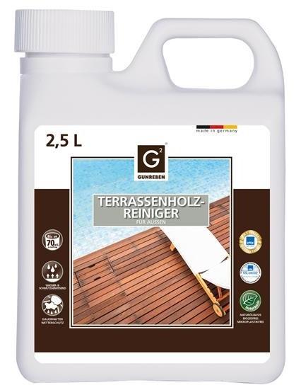 2,5 Liter Spezialreiniger für Holzterrassen von Gunreben, ausreichend für ca. 20-80 m²
