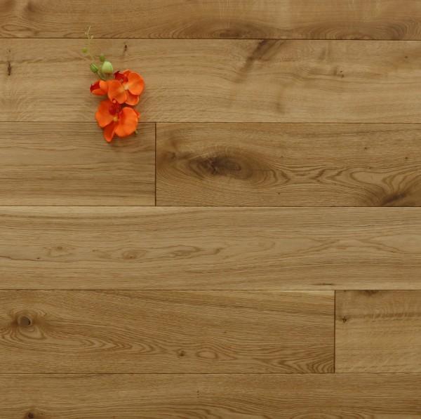 Restposten Holzdielen Eiche, geölt, 20 x 180 mm, Systemlängen von 500 bis 2000 mm, massiv, Kanten gefast, Nut / Feder Verbindung