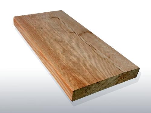 Terrassendielen Sibirische Lärche, AB Sortierung, 40 x 142 bis 6000 mm, glatt für 6,40 €/lfm