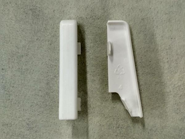 Check Sockelleisten Verbinder Set mit 2 Stück im Farbton weiß