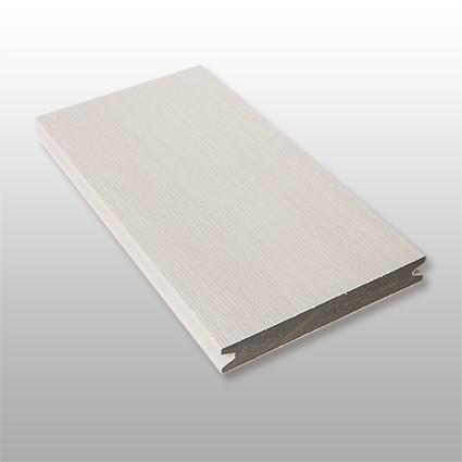 WPC Dielen massiv Artide, Premium, ummantelt, Oberfläche gebürstet, Farbton hellgrau, Vollprofil, 22 x 143 bis 4800 mm für 10,40 €/lfm