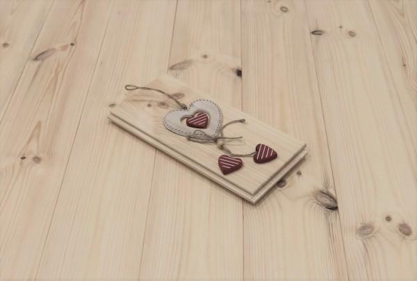 Schlossdielen Kiefer, 21 x 137 mm von 3250 bis 5350 mm, aus massivem Holz, optional in Fixlänge, Markant, Kanten gefast, Nut / Feder Verbindung