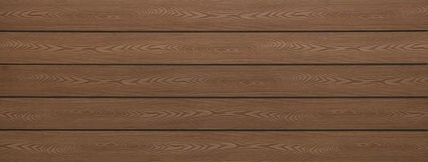 WPC Dielen massiv, Oberfläche mit Struktur in Holzoptik, Farbton braun, Vollprofil, 22 x 143 bis 4800 mm für 7,99 €/lfm