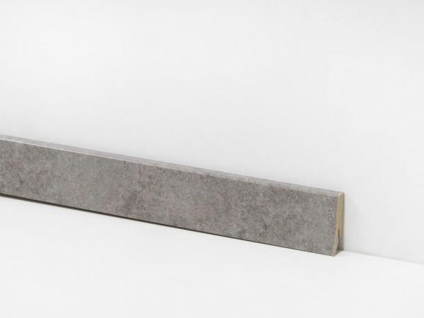 Check Vinyl Sockelleiste Nr. 2112 mit 18 x 58 x 2400 mm abgestimmt zum Dekor Zweckel Beton