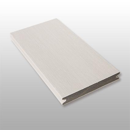 WPC Terrassendielen Artide, massiv, ummantelt, Premium, Oberfläche gebürstet, Farbton hellgrau, 22 x 143 bis 4800 mm für 10,40 €/lfm
