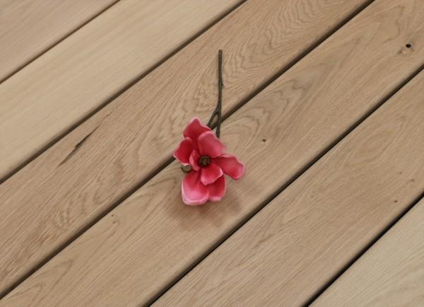 Terrassendielen Eiche, 25 x 140 bis 4000 mm, glatt für 10,90 €/lfm, Sonderanfertigung