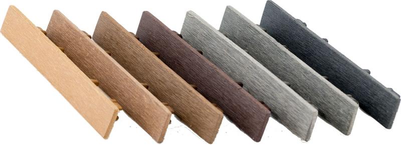 20 Stück WPC Endkappen farblich passend zum Profil ausreichend für 10 Terrassendielen