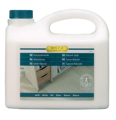 2,5 Liter WOCA Holzbodenseife weiß, zur regelmäßigen Reinigung weiß geölter Holzböden