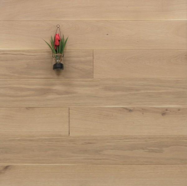 Holzdielen Eiche, mit einem Naturöl weiß geölt, 20 x 140 mm, Langdielen von 1800 bis 2200 mm, optional in Fixlänge, massiv, Nut / Feder Verbindung, Sonderanfertigung nach Kundenwunsch
