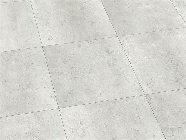 Klick Vinyl Fliesenoptik, Check one Riemke Beton, 4,0 x 457 x 457 mm, Kanten gefast, Nutzungsklasse 33/42, Nutzschicht 0,55 mm, mit stabiler RIGID Vinyl Trägerplatte